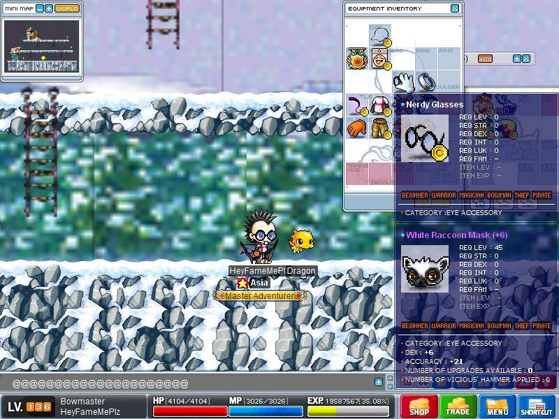 White Raccoon Mask - ACC 21, DEX 6