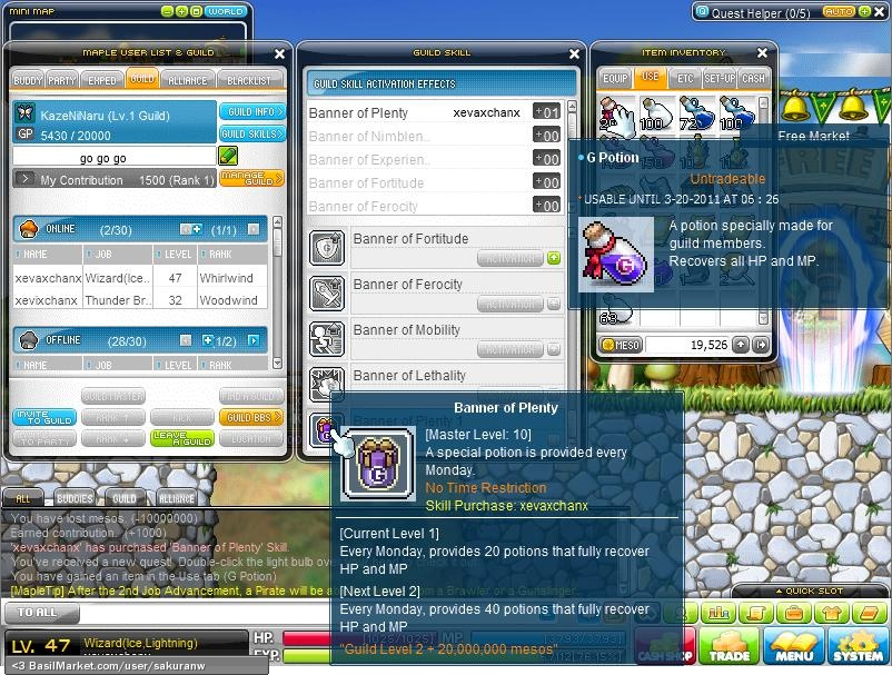 how to make potions in maplestory