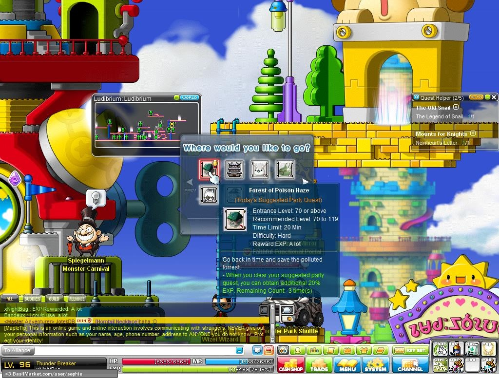 how to move to elin forest maplestory