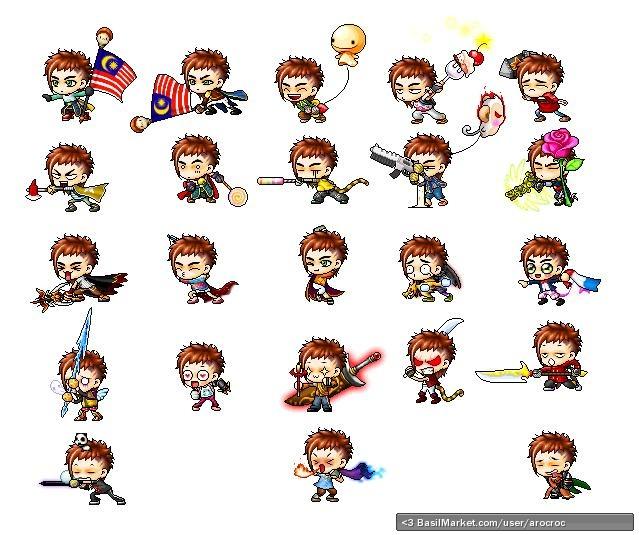 BasilMarket My characters random mood swings - MapleStory Screen