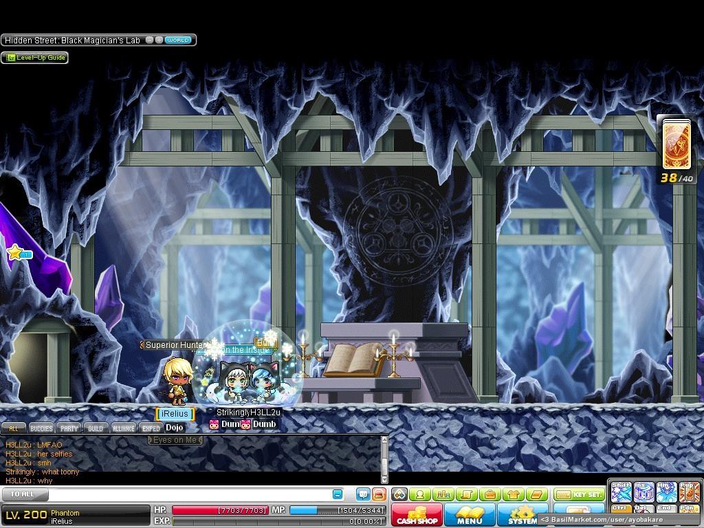 BasilMarket Black magician's lab - MapleStory Screen