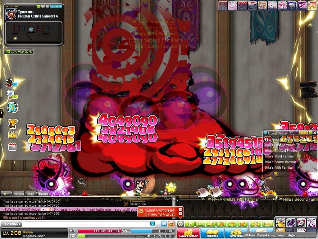 BasilMarket Kanna level 170 hyper skill - MapleStory Screen