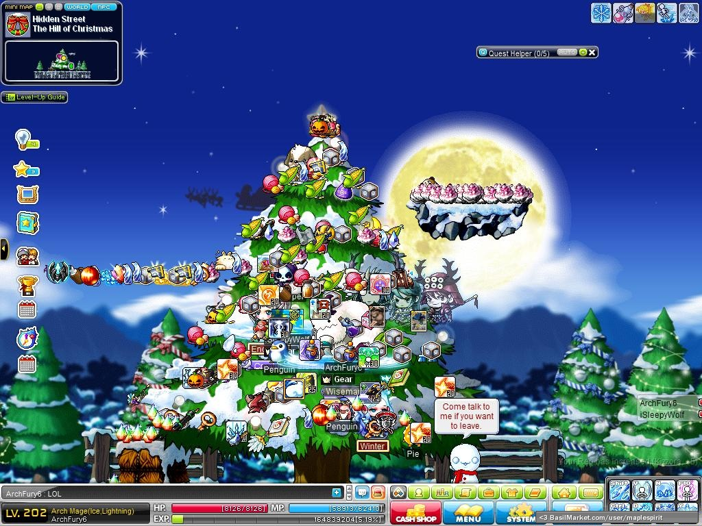 MapleStory Decorating a Christmas Tree! - MapleStory Screen