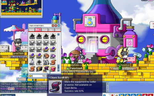 maplestory how to get infinite throwing knives recipe